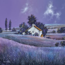 Poplars by John Mckinstry - Original Painting on Box Canvas sized 24x24 inches. Available from Whitewall Galleries